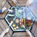 Fire Pit Grill Table