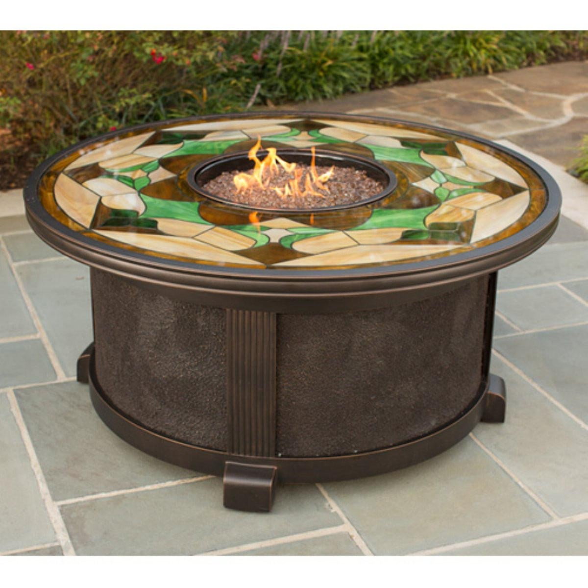 Fire Pit Made from Truck Rims