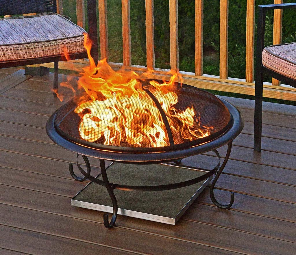 Fire Pit Pad for Deck