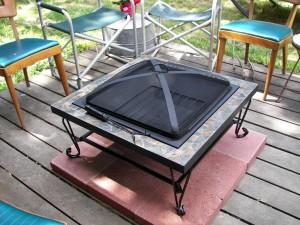 Fire Pit Pad Wood Deck