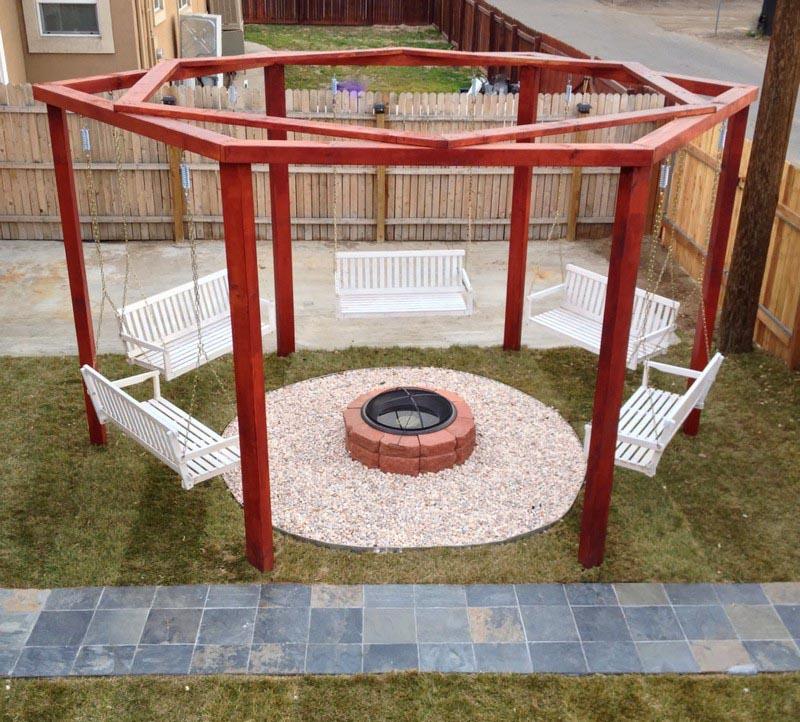 Fire Pit Swing Set