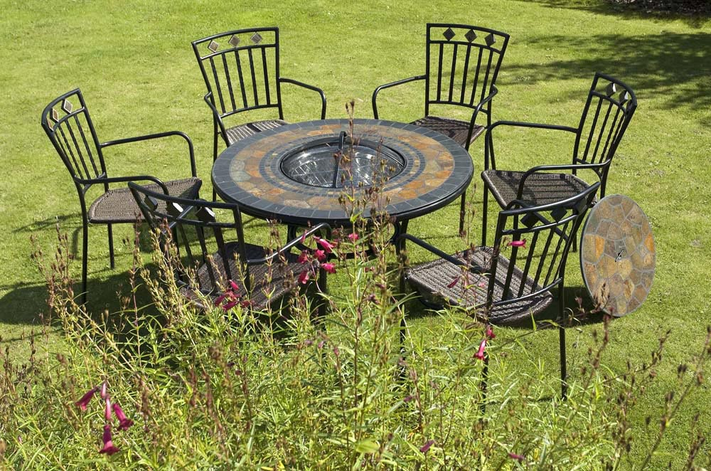 Fire Pit Table and Chairs Set