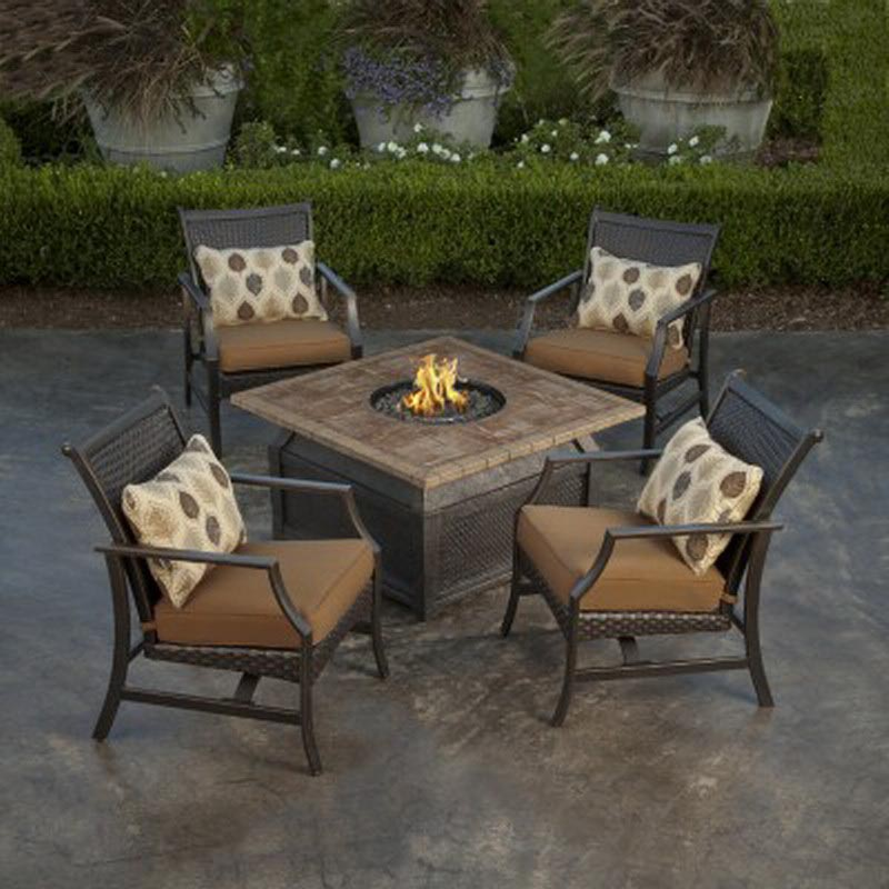 Outdoor Propane Fire Pit Coffee Table Images