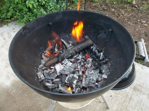 Firing Clay in a Fire Pit