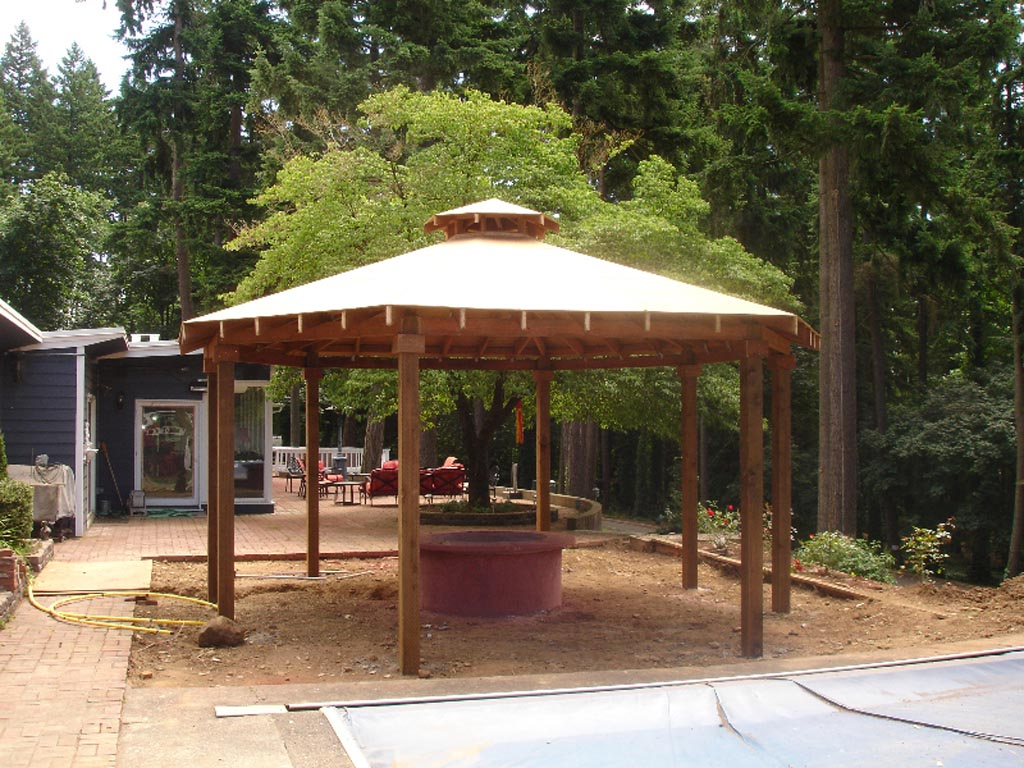 Gazebo Plans with Fire Pit