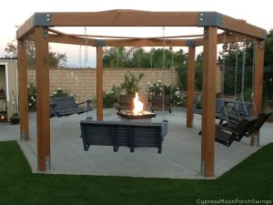 Gazebo with Fire Pit Plans