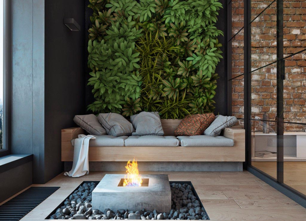 Glass Fire Pit Indoors