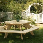 Hexagon Six Sided BBQ Picnic Table