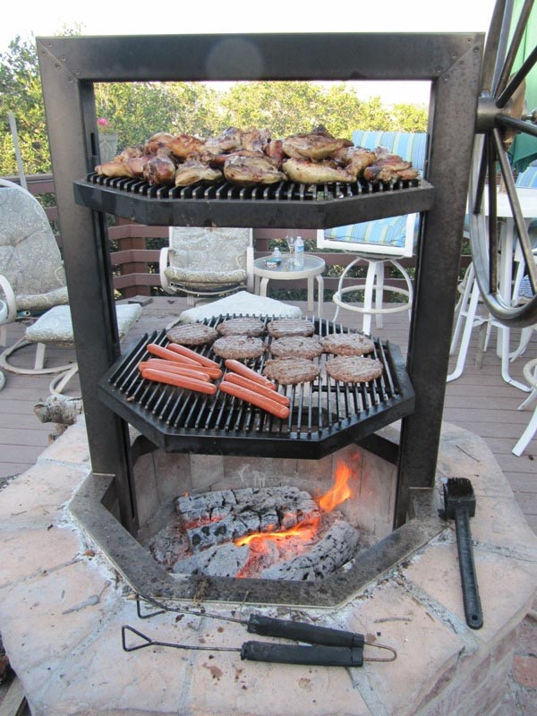 Wonderful Homemade Brick BBQ Grill Plans