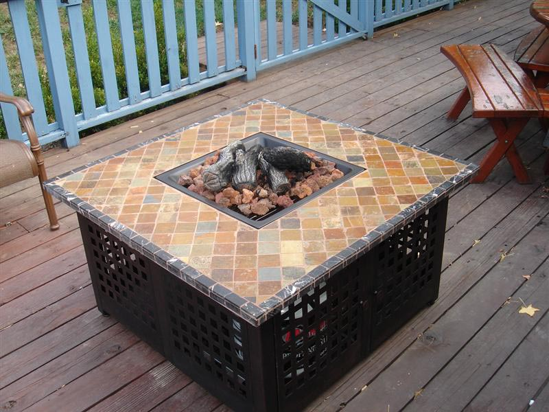 Homemade Fire Pit Table