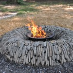 Homemade Stone Fire Pit