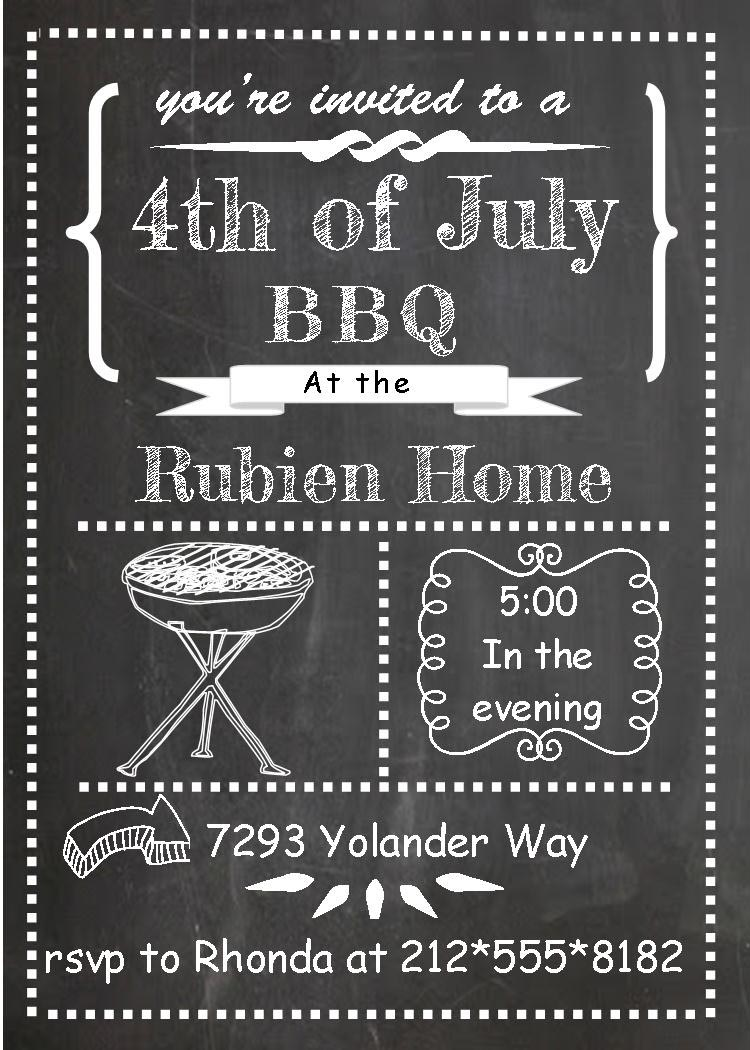 Invitation for BBQ Party Wording