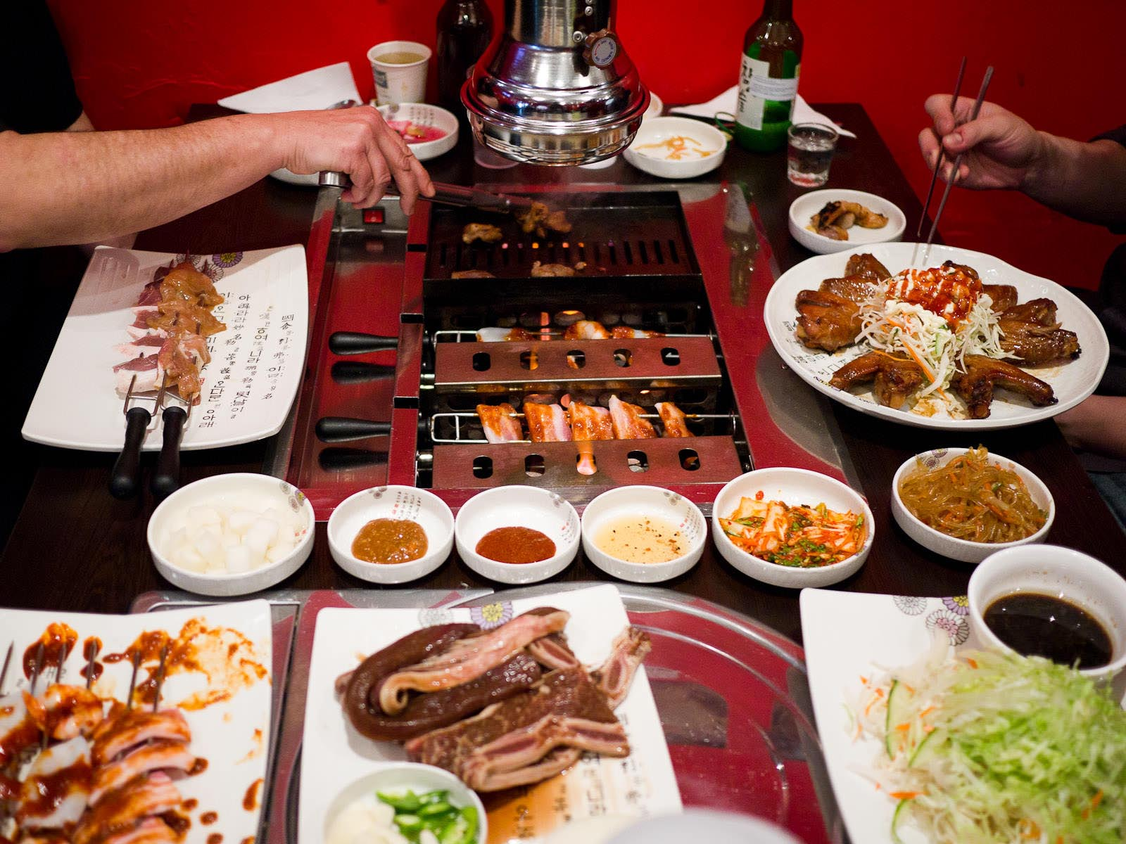 Korean BBQ Table Insert