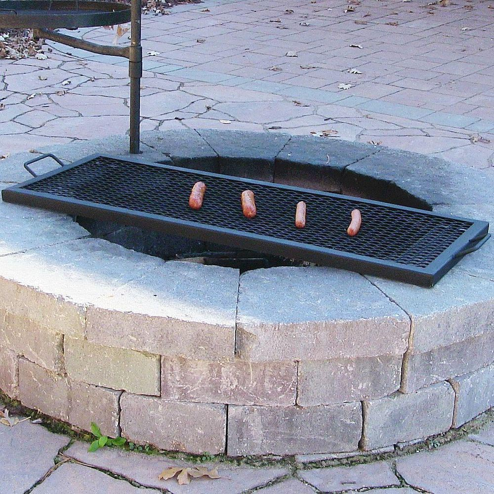 Large grill grates for fire pits fire pit design ideas for Easy diy fire pit with grill