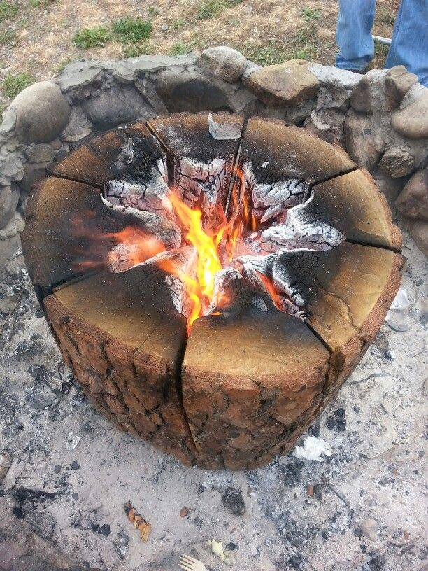 Making a Swedish Fire Log