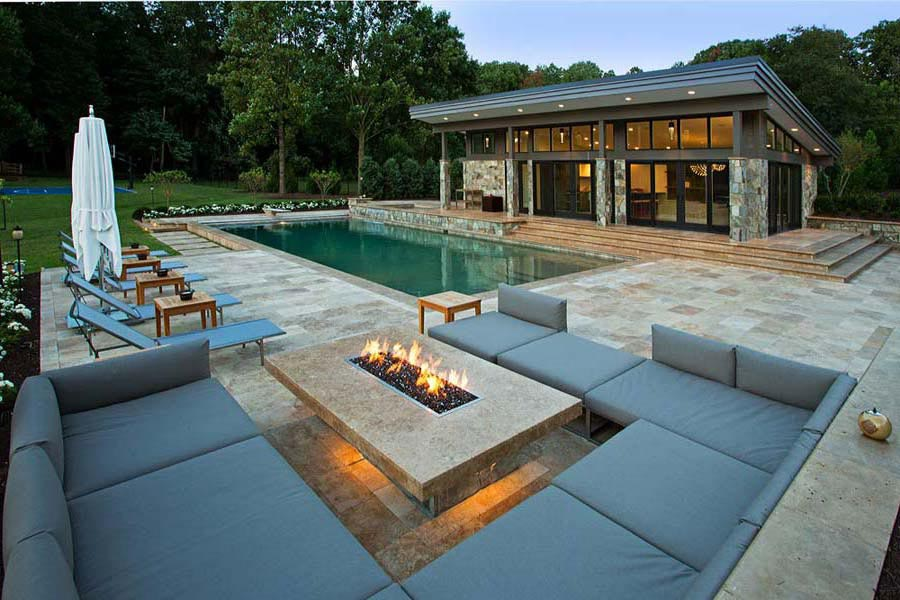 Modern Backyard Fire Pit : More Comfort with Modern Fire Pit Modern Gas Fire Pit