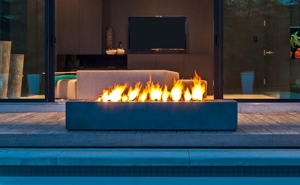 Modern outdoor fire pit fire pit design ideas for Outdoor modern fire pit