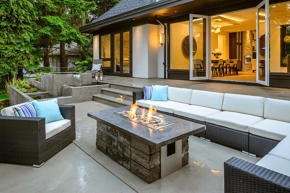 Modern outdoor propane fire pit fire pit design ideas for Modern fire pit ideas