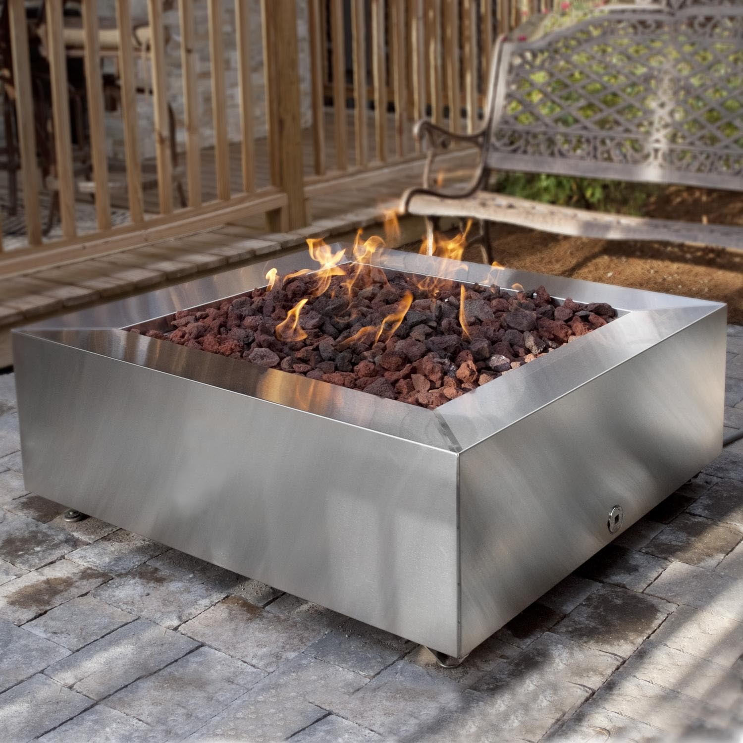 Modern propane fire pit fire pit design ideas for Modern fire pit ideas