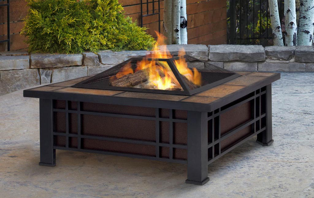 Modern Wood Burning Fire Pit
