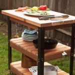 Outdoor BBQ Prep Table