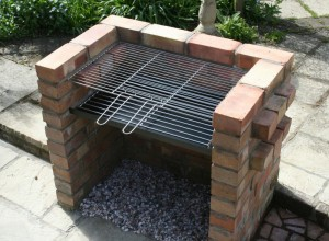 Outdoor Brick BBQ Pit