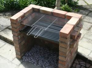 Outdoor Brick BBQ Pit