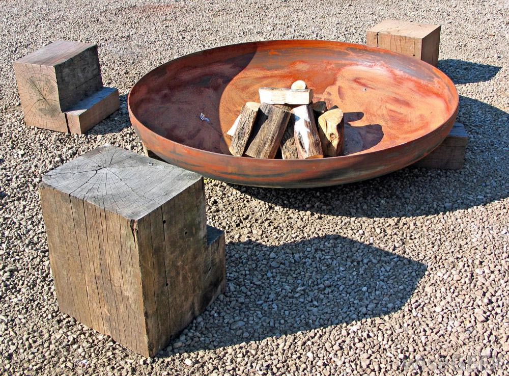 Outdoor Clay Fire Pit