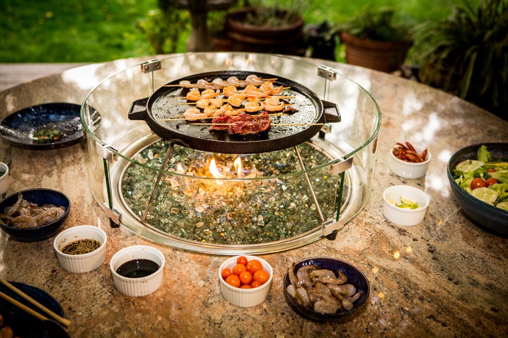Functional And Practical Korean Bbq Table Fire Pit