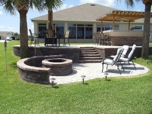 Patio Pavers with Fire Pit