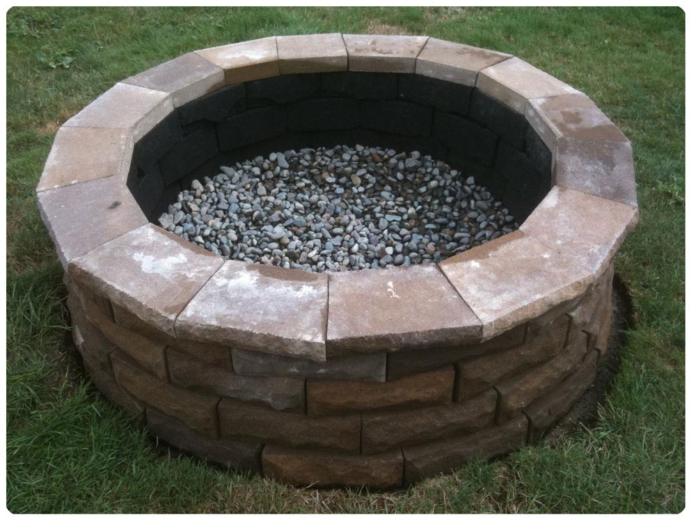 Paver fire pit kit fire pit design ideas for Best fire pit design
