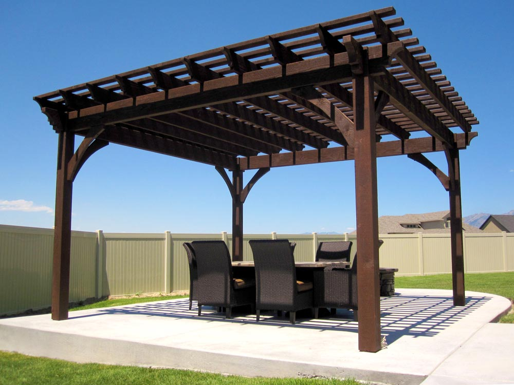 Pergola with Swings and Fire Pit