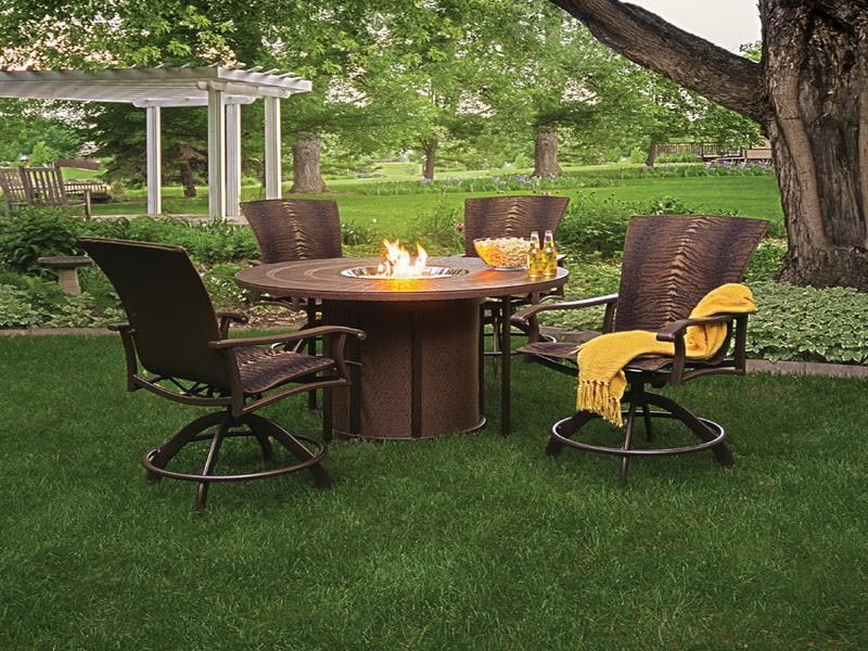 Propane Fire Pit Sets with Chairs