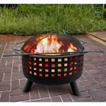 Propane Fire Pit with Square Ceramic Tiles 32
