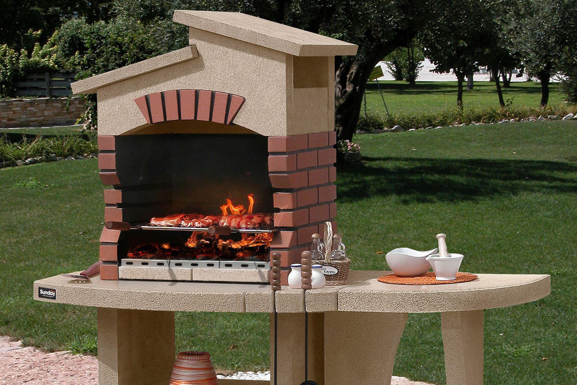 Create brick bbq plans before building barbeque or grill for Brick fire pit construction