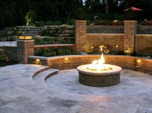 Retaining Block Fire Pit