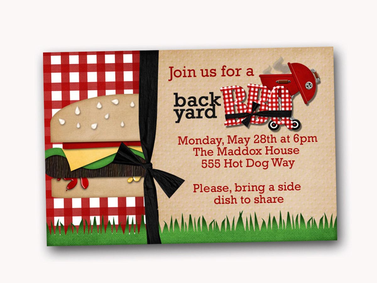 Sample Invitation for BBQ Party
