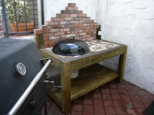 Side Table for BBQ