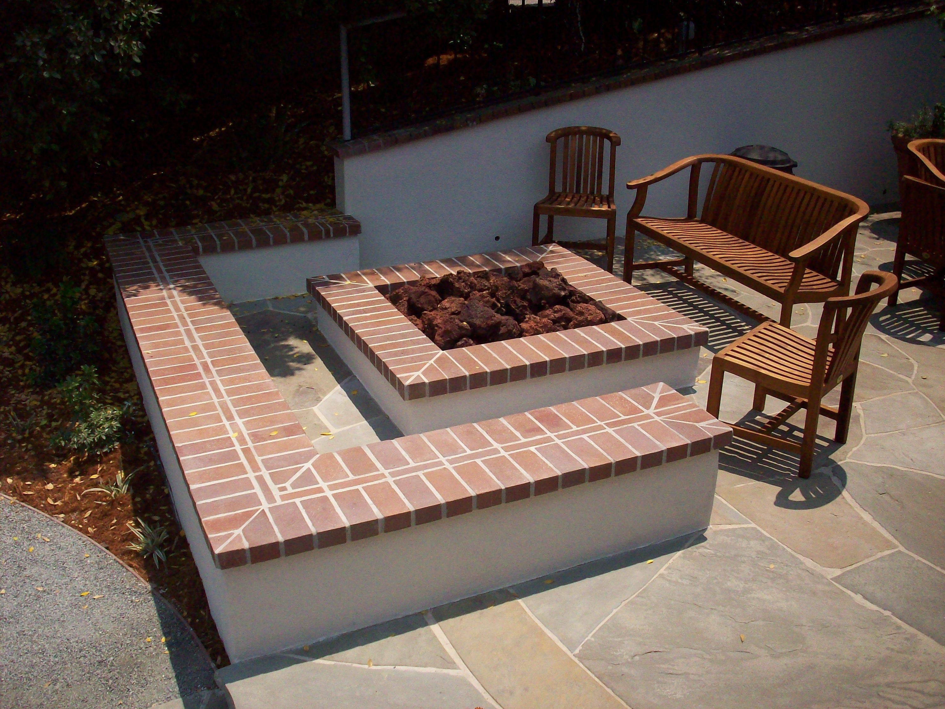 Square Fire Pit Designs : Square brick fire pit design ideas