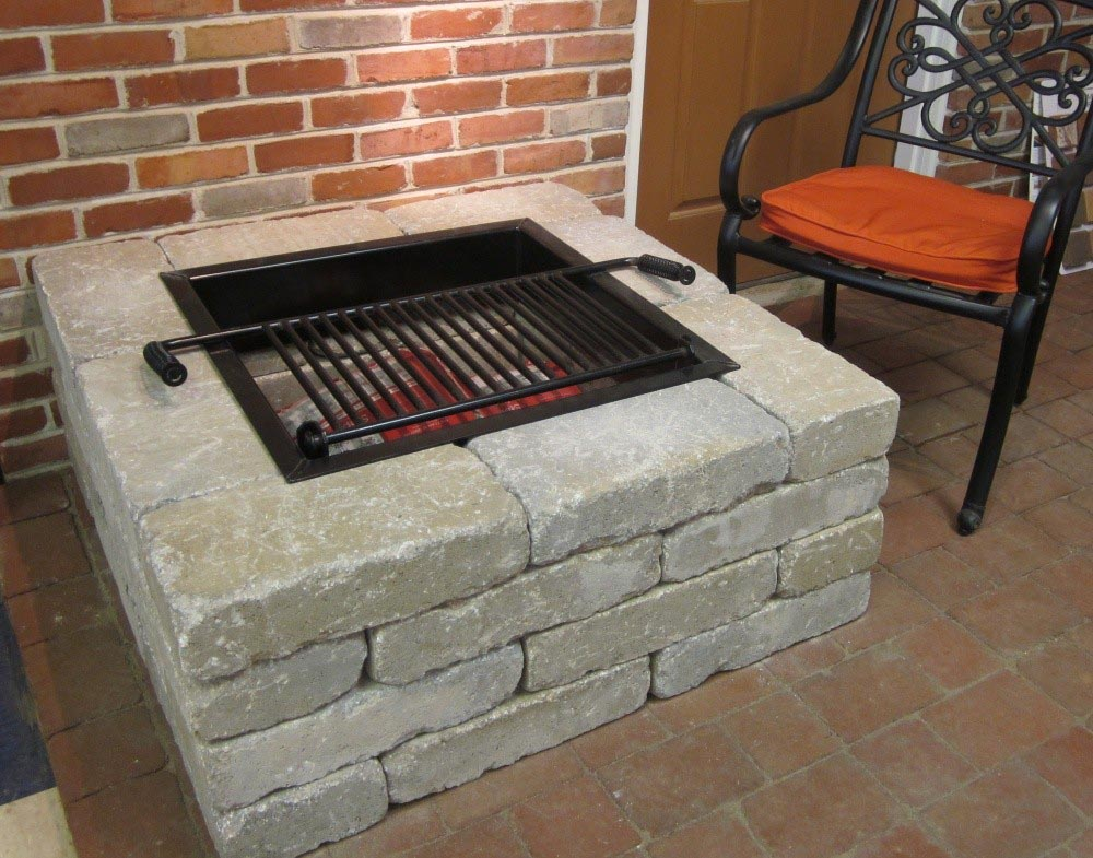 Square Fire Pit Kit