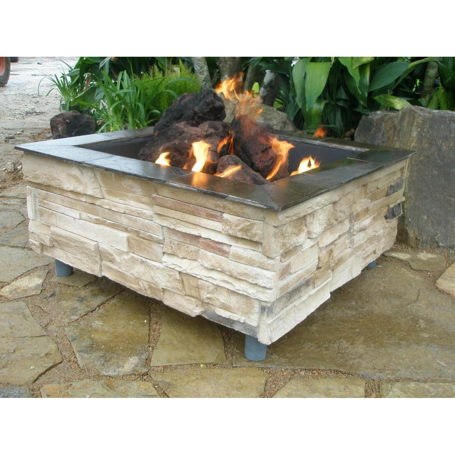 Square Fire Pit Designs : Square gas fire pit design ideas