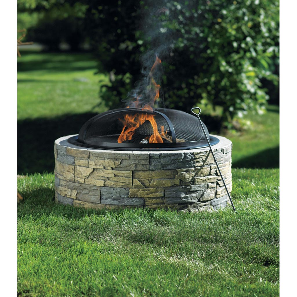Stone fire pit bunnings fire pit design ideas for Buy outdoor fire pit
