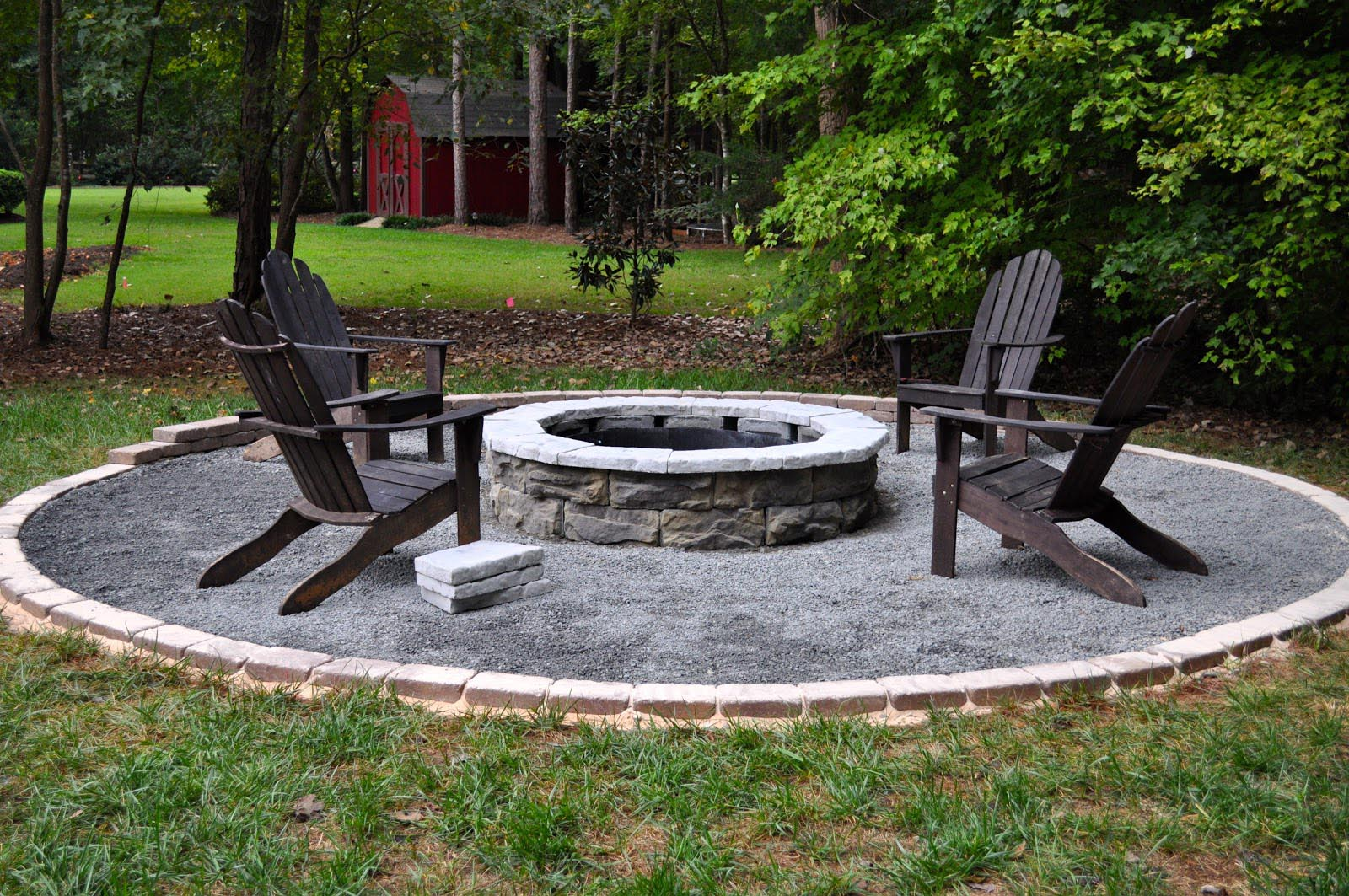 Fire pit plans few easy steps to build a fireplace Granite a frame plans