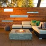 Sunken Fire Pit in Deck