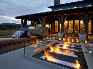 Sunken Fire Pit Seating