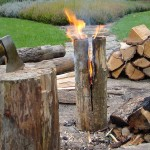 Swedish Fire Log Candle
