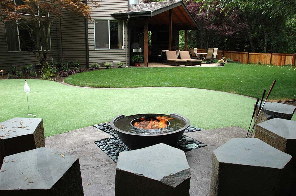 Swing Bench Fire Pit
