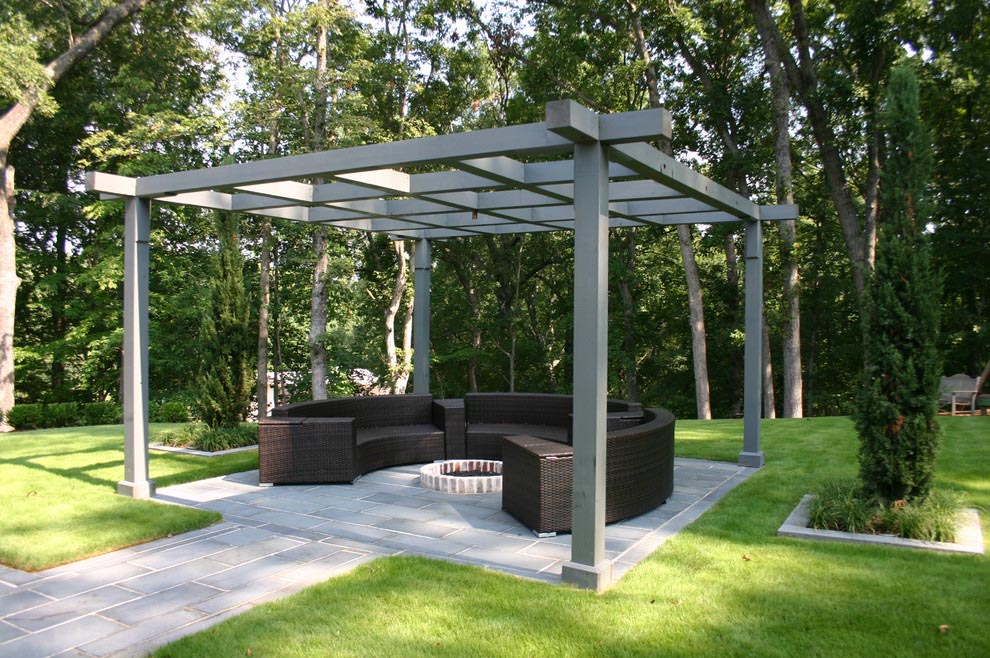 Swing Gazebo Fire Pit