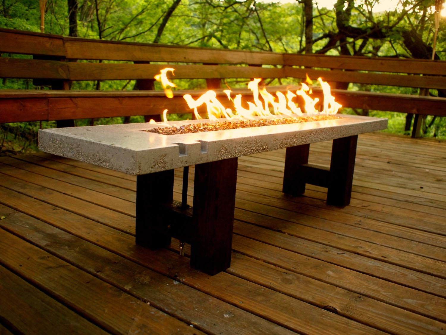 Table Fire Pits with Chairs