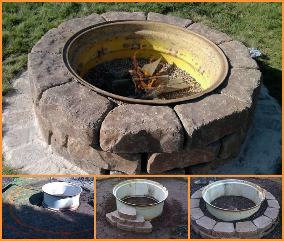 Tire rim fire pit fire pit design ideas for Fire pit ideas